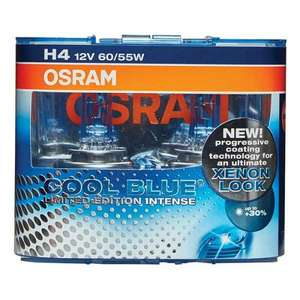 OSRAM XENON EFFECT. Osram Cool Blue Intense H4 Twin Pack +30% Limited edition £7.99 + Free economy delivery @ Euro car parts.
