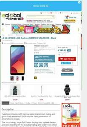LG G6 H870DS 64GB Dual sim SIM FREE/ UNLOCKED - Black at Eglobalcentral for £387.99