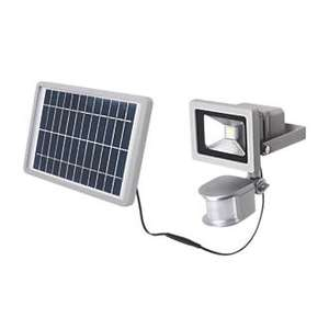 LAP LAP LED SOLAR FLOODLIGHT WITH PIR 10W SILVER @ screwfix, £19.99 from £29.99