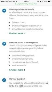 6x Free Cinema tickets with bank account at Lloyds Bank