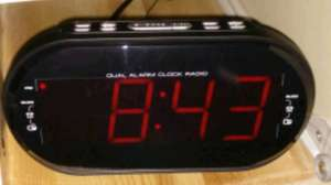 Sainsburys, large led alarm clock with radio, 2 alarm setting, led dimmer and battery backup , instore only was £13
