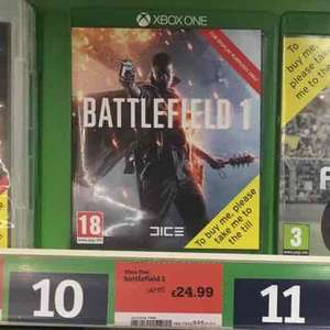 Battlefield 1 Xbox One / PS4 £24.99 @ Sainsbury's Instore