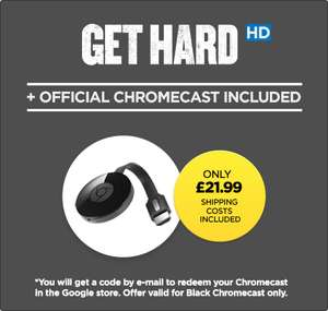 Chromecast with Get Hard Movie in HD - £21.99 @ Wuaki