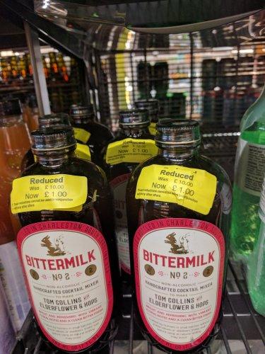bittermilk no. 2 mixer. was £10.00 , now £1.00 instore @ M&S