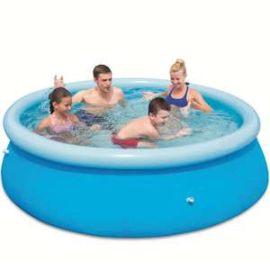 Upto half price outdoor toys for half term eg 8ft quick set up pool was £59.99 now £29.99 delivered more in post @ Toys R Us