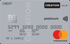 Creation Everyday Credit Card - 12.9% apr but fee free worldwide and for cash withdrawals too