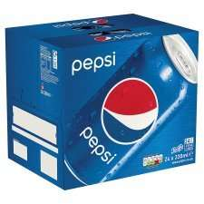 Pepsi/Pepsi Max/Pepsi Diet - 24 X 330Ml Cans - £6 @ Tesco (From 31.05.17)