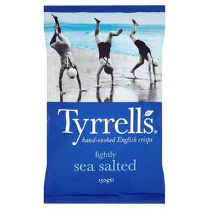 Tyrrells Mature Cheddar And Chive/Lightly Sea Salted/Sea Salted And Cider Vinegar Crisps 150 G 89p Each @ Tesco (From 31.05.17)
