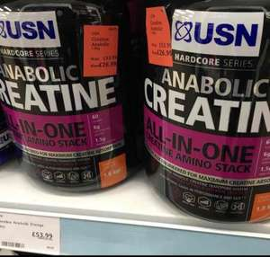 USN Anabolic Creatine 1.8kg , was £53.99, now £26.99 Holland & Barrett - Birmingham
