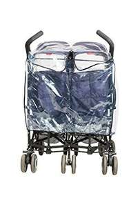 1/2 Price Universal Raincover for double umbrella fold style stroller only £5 @ boots