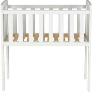 Solid Pine Crib as cheap as a moses basket but lasts longer :) £29.25 @ asda direct