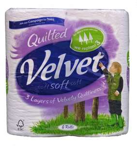 In store and online Velvet Comfort 6 Toilet Rolls for £2.00 at Iceland