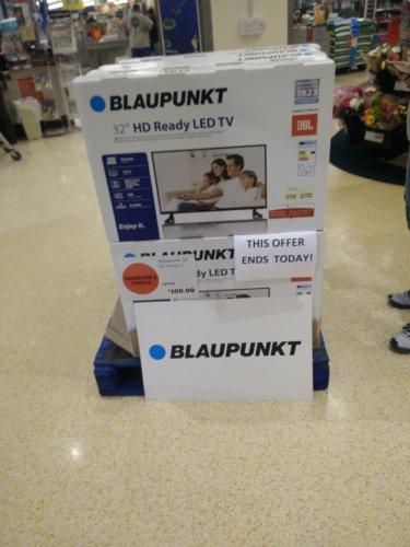 Blaupunkt 32 inch TV £100 instore @ Sainsbury's