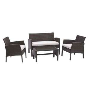 4 piece rattan set £120 @ Bargain Buys