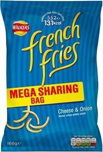 Walkers French Fries 160g Mega Sharing Bag Cheese & Onion £1 at Home Bargains