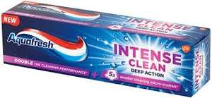 Aquafresh Intense Clean Deep Action Toothpaste 75ml  various flavours whitening / deep clean 69p @ Home Bargains