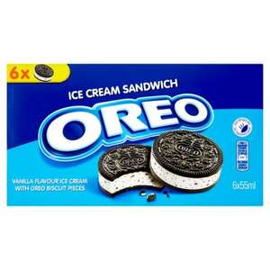 Oreo Ice Cream Sandwich 6 X 55Ml £1.50 @ Tesco/Sainsbury's