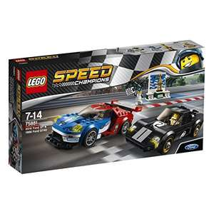 Lego Speed Champions 75881 2016 Ford GT & 1966 Ford GT40 Building Set save £11.00 now £18.99 (Prime) / £23.74 (non Prime) at Amazon