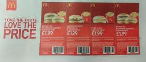 Free Subway, Mcdonalds and Burger King vouchers in today's Metro newspaper