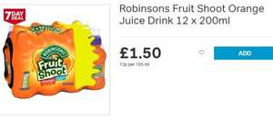 Iceland 7 Day Deal Robinsons Fruit Shoot Orange/Apple & Blackcurrant Juice Drink 12 x 200ml - £1.50