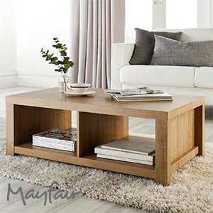 Mayfair Chunky Wooden Coffee Table £39.99 Home Bargains