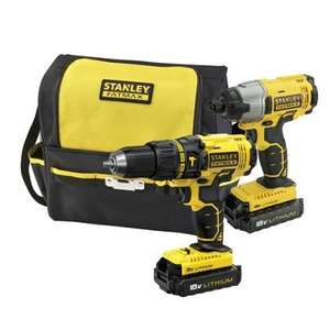 Stanley Fatmax hammer and impact drill 18v Twin Pack £99.95 @ Homebase