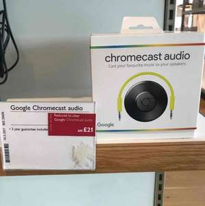 Google Chrome Cast audio £21 John Lewis instore
