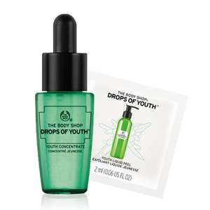 Free sample from the body shop drop of youth - instore in selected stores