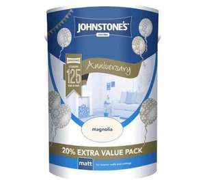 Johnstones 6L Magnolia Matt Paint only £8.99 at Argos