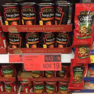 Heinz Tuscan bean soup with roasted garlic and tomatoes - 19p @ B&M in store