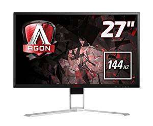 AOC Agon 27 inch 144 Hz 2560 x 1440 LED Gaming Monitor, 1 ms Response Time, Height Adjust, Display Port, HDMI, DVI, VGA, Speakers, 4 x USB 3.0, Adaptive Sync, Vesa AG271QX - £386.60 @ Amazon