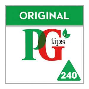 PG Tips Pyramid Tea Bags (696g = 240 bags) was £5.99 now £3.50 @ Tesco