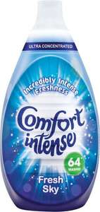 Comfort Intense Fabric Conditioner Fresh Sky - 64 Washes (960ml) was £5.00 now £2.50 @ Tesco