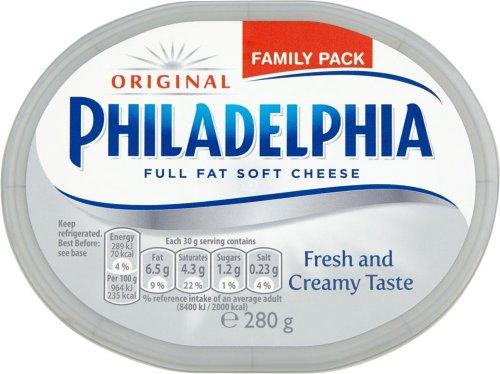 Philadelphia Soft Cheese - Original / Lighter (280g) was £2.40 now £1.20 / Philadelphia Light Garlic and Herb 270g / Philadelphia Light Garlic and Herb Lighter 270g was £2.40 now £1.20 @ Tesco