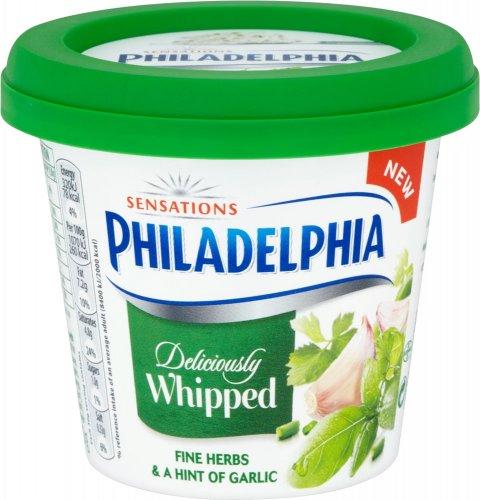 Philadelphia Sensations Whipped Garlic & Herb (140g) Half Price Was £2.00 Now £1.00 @ Tesco