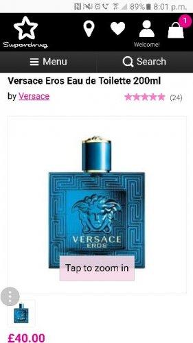 Versace Eros EDT 200ml for £40 @ Superdrug