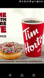 Free Coffee and Baked Good @ Tim Hortons Glasgow. 2nd June - 5th June 2017