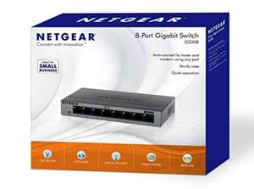 NETGEAR GS308-100UKS 8 Port Gigabit Ethernet Desktop/Wallmount Switch Metal Housing £15.49 (Prime) / £20.24 (non Prime) at Amazon