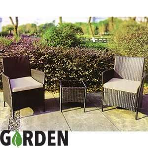3 Piece Rattan Companion Set £99.99 Home Bargains