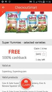 free super yummies with Checkoutsmart - rice cake, yoghurt and pieces - 99p at Superdrug