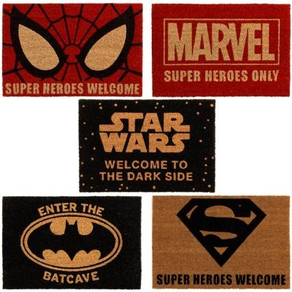 Licensed 'Superhero' Coir Doormats £7.99 each In-store @ B&M Bargains