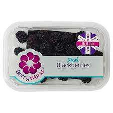 British Fresh Raspberries and Blackberries 150 Grams 59p instore also fresh seedless  grapes 500 grams £1 @ Home Bargains