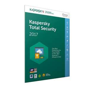 Kaspersky Total Security 2017 - 10 Devices, 1 Year, FFP (PC/Mac/Android) £13.46 prime / £15.45 non prime @ Amazon UK