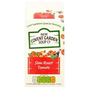 New Covent Garden Slow Roast Tomato Soup 600g was £2.10 now (BOGOF) Mix and Match available until Tuesday 13th June @ Ocado