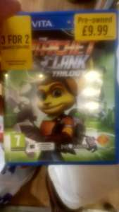 Ratchet & Clank Trilogy (ps vita) pre-owned £9.99 @ GAME Carlisle