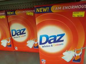 Daz 80 washes 5.2 kg £4 at Morrisons
