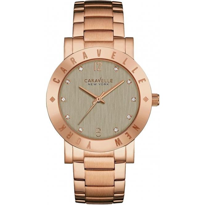 Clearance sale : Caravelle New York 44L203 Ladies' Boyfriend Wristwatch £35.44 @ HSjohnson