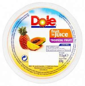 Dole tropical fruit/pineapple in juice 113g just 10p @ poundstretcher