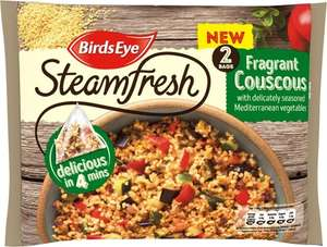Birds Eye Steamfresh 2 Packs of Couscous with Mediterranean Vegetables Frozen (360g) was £1.85 now £1.00 @ Ocado