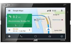 """JVC KW-M730BT Double Din 6.8"""" Car Stereo with CarPlay £289 @ Halfords"""